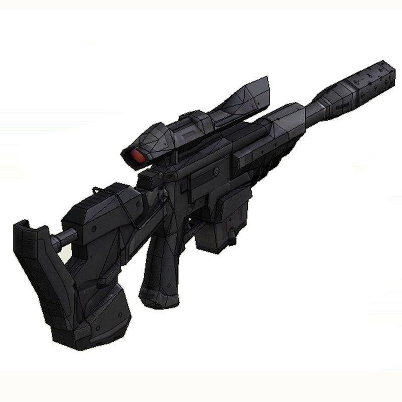 Star wars Sniper Rifle Gun Fun 3d Papier bricolage Miniature Modèle Kits Puzzle Jouets Éducatifs Pour Enfants Garçon Épissage Science Passe-Temps