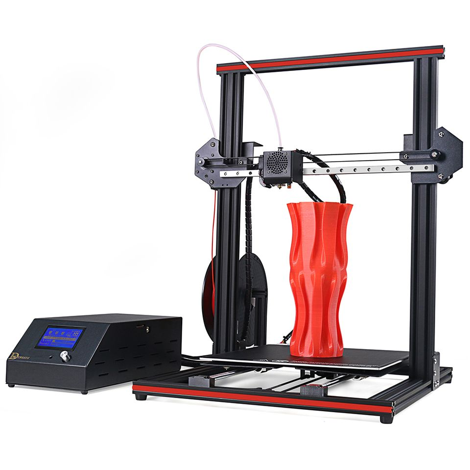DMSCREATE DP334 3D Drucker 300*300*400mm Große Druck Größe Volle Metall Rahmen KIT Linear Guide 2 schritte installieren, 24 v netzteil
