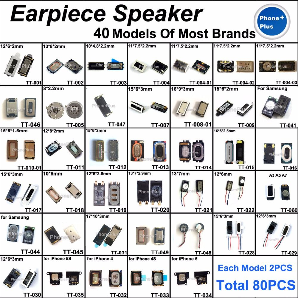 40 models For ASUS Xiaomi Nokia Most Brand Compatible Common Used Earpiece Speaker Earphone Receiver Repair Part