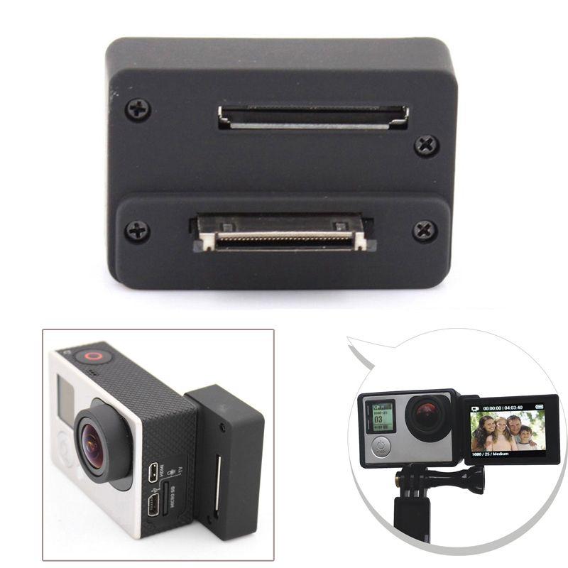 Accessoires Pour GoPro BacPac Écran connecteur Adaptateur Pour GoPro Hero 4 Hero 3 + 3 Caméra Lcd Moniteur Selfie Converter Box