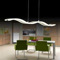 Lámpara colgante LED de onda moderna creativa S 38 W lámpara colgante ajustable comedor restaurante sala de estar araña 110 V 220 V