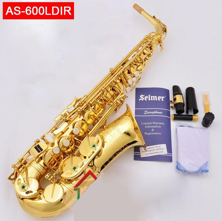 USA conn selme AS-600LDIR alto saxophone Eb electrophoresis gold sax Saxofone professional Woodwind instruments with case box