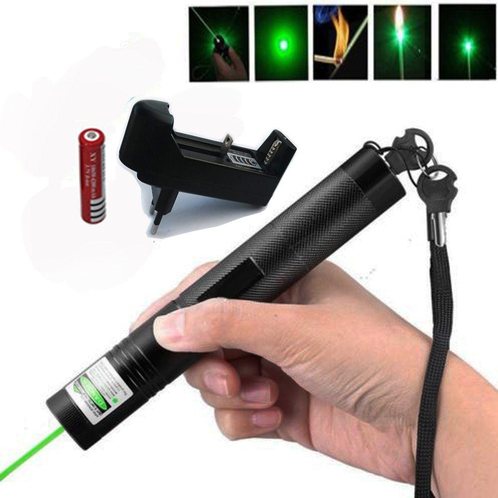 Haute-puissance Pointeur laser Portée laser 303 stylo Mise Au Point réglable 10000 m Vert Lazer vue pour brûler pétards et matchs