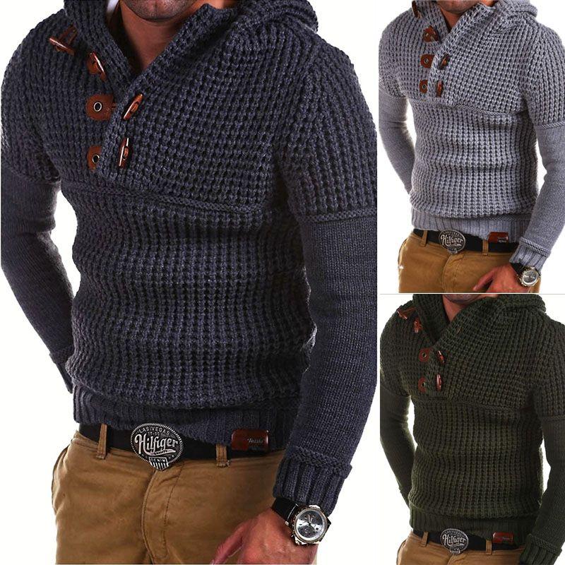 2018 Mens Wool Sweater Pullover Long Sleeve Half-Zipper Sweater Jumper Knitwear Winter Cashmere Outerwears Male M-XXXL