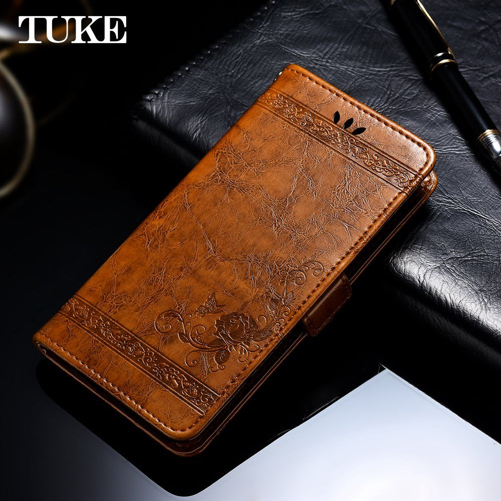 TUKE Vintage Embossed Flower Case For Letv Leeco Cool 1 Cover Luxury Leather Flip Silicone Back Cover For Leeco Coolpad Cool1