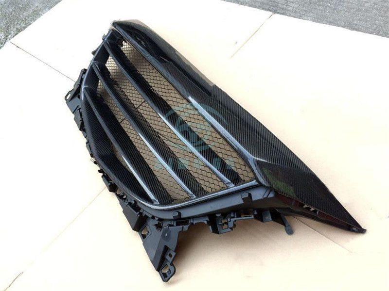 Auto Refit For Mazda 6 Carbon Fiber Front Middle Hood Grille Protect Adorn trim