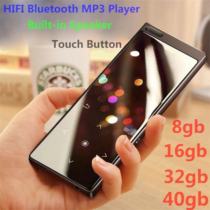 Lecteur MP3 nouveauté métal bouton tactile HIFI Bluetooth lecteur de musique haut-parleur intégré 8 GB/16 GB/32 GB/40 GB son sans perte avec FM