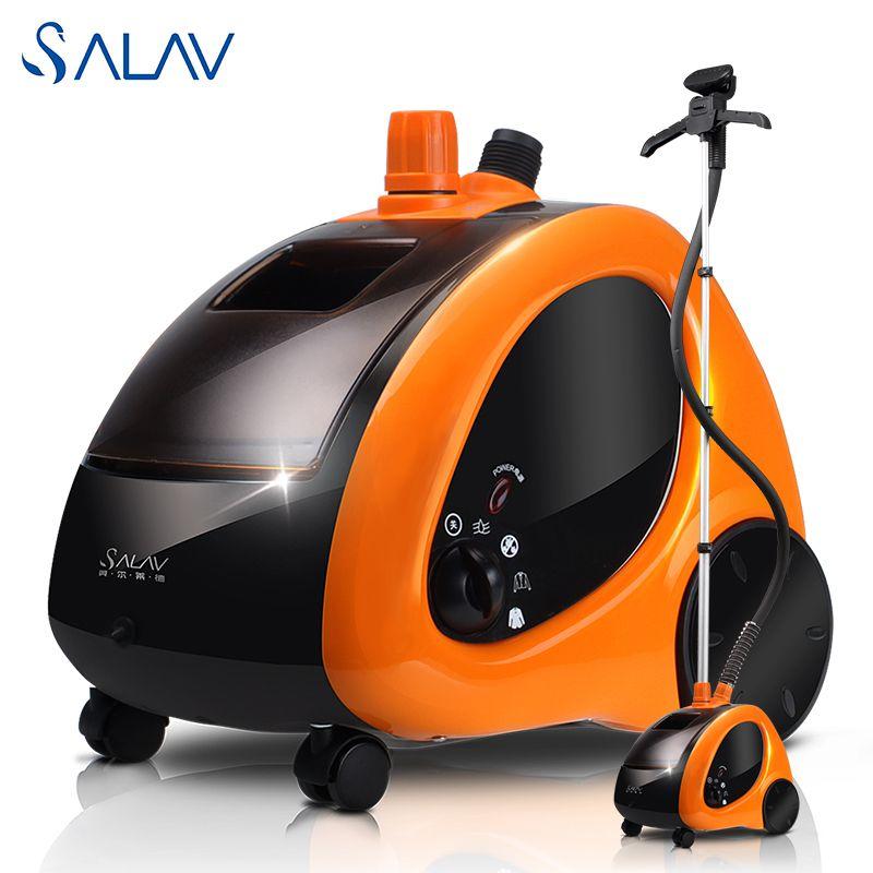 Final Deal!! SALAV 1.4L 1500W Clothes Garment Steamer GS29-CN 45s Fast Heat Up 4 Power Settings Vertical Steam Iron Generator