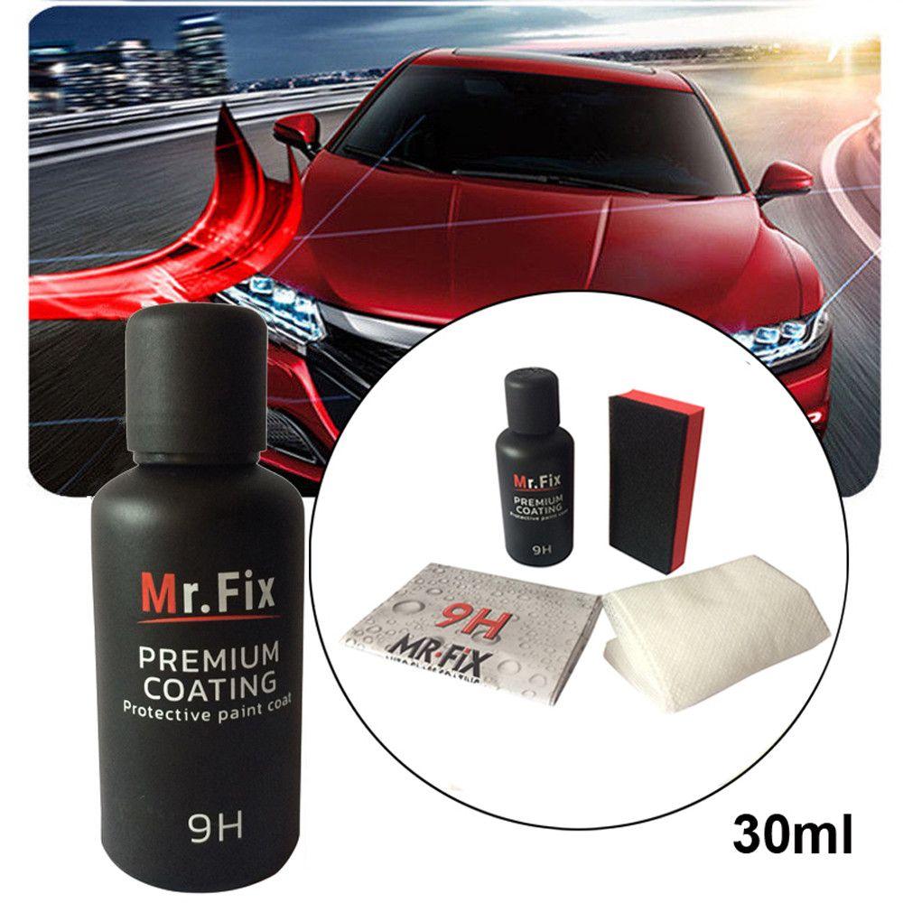 9H Oxidation Anti-scratch Car Polish Car Liquid Ceramic Coat Auto Detailing Glasscoat Paint Care Super Hydrophobic Glass Coating