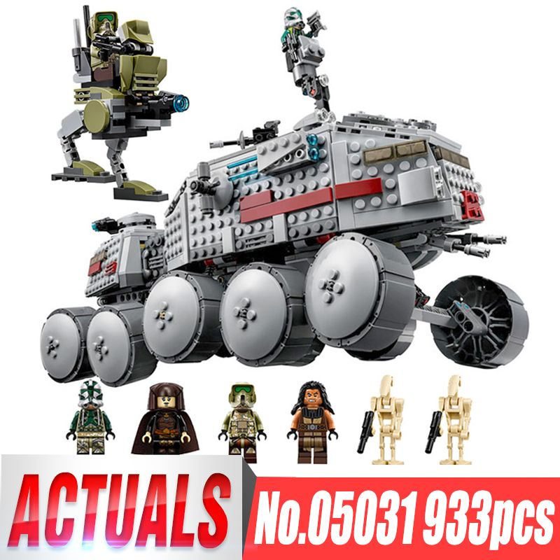 933Pcs LEPIN 05031 The Star Series Clone Turbo Tank Wars Building Blocks Compatible Legoinglys 75151 Boys Birthday Kids Gifts