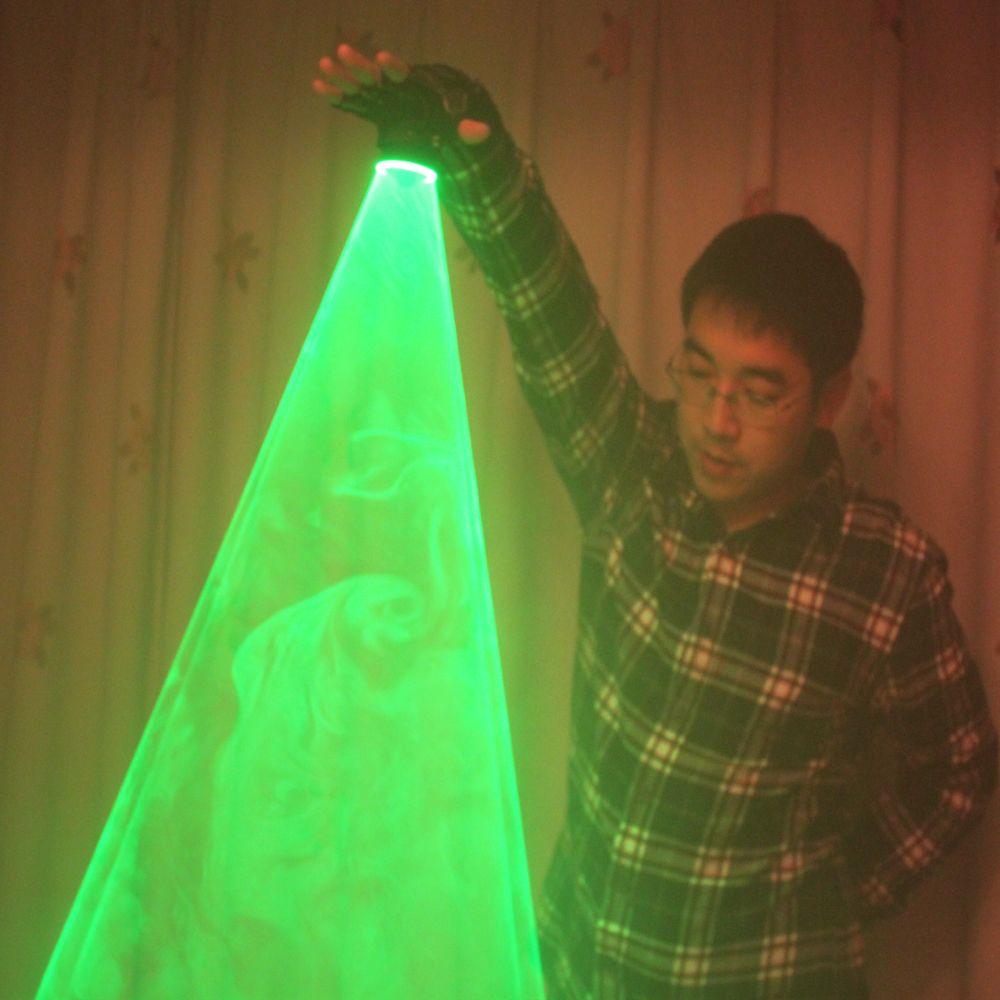 Livraison gratuite Laser vert tourbillon Laser portable canon pour DJ danse Club rotatif Laser gants lumière Pub fête Laser spectacle