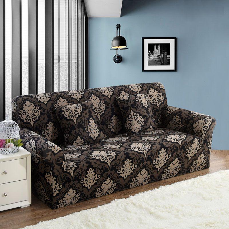 1PC Elastic Sofa Tight Wrap All-inclusive Slip-resistant Sofa Cover Elastic Sofa Towel Single/Two/Three/Four-seater