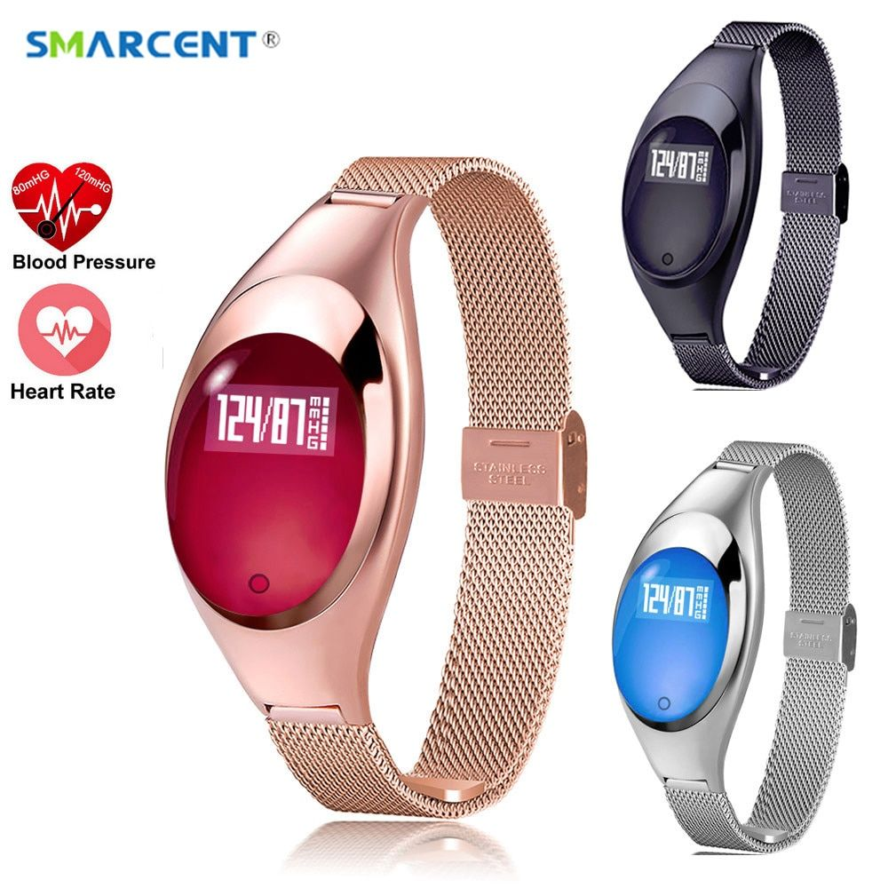SMARCENT Women Fashion Smart Watch With Blood Pressure Heart <font><b>Rate</b></font> Monitor Pedometer Fitness Tracker Wristband For Android IOS