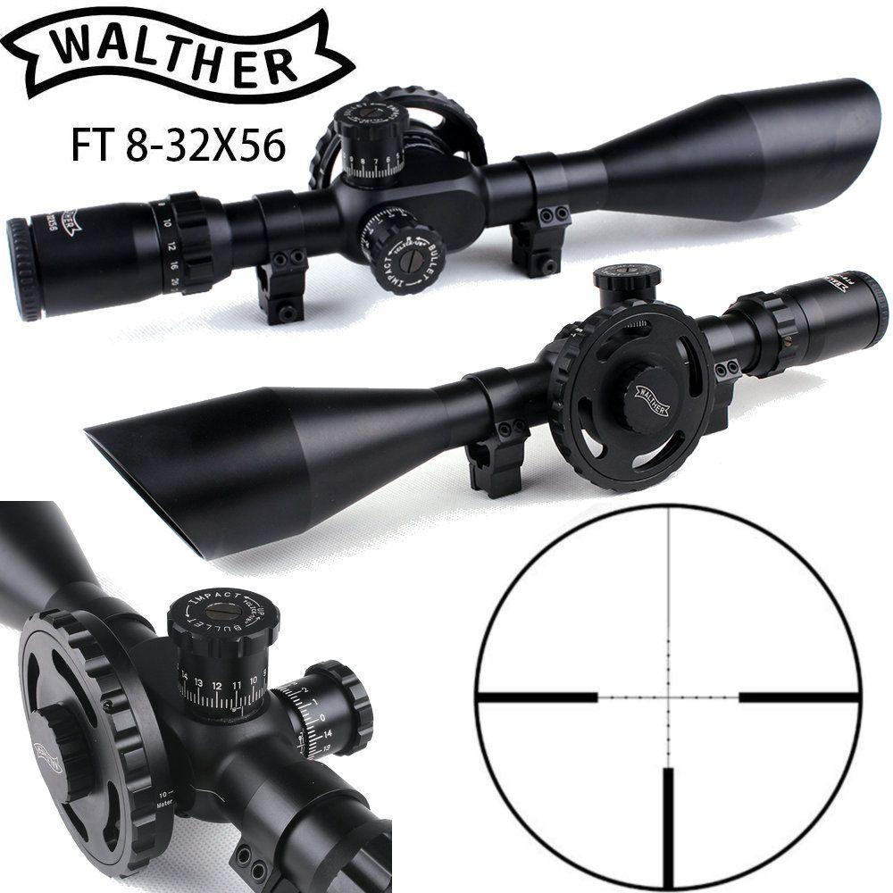 WALTHER FT 8-32X56 Jagd Zielfernrohre Mil Dot Absehen Große Seite Rad Parallaxe Einstellung Schießen Umfang mit Schwalbenschwanz Ringe