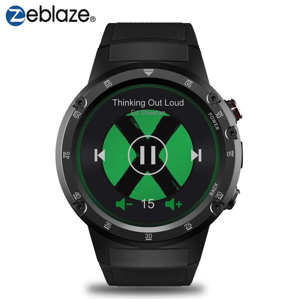 Zeblaze THOR 4 Plus 4G Sport SmartWatch GPS/GLONASS Watches Quad Core 16GB android watch Offline Music Smart Assistant GPS Watch
