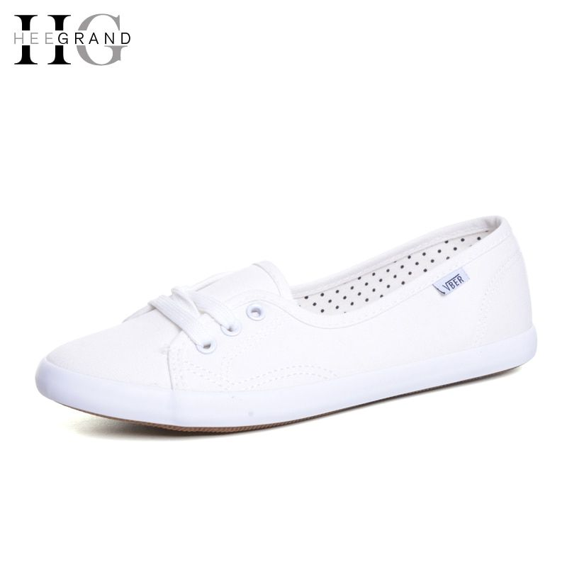 HEE <font><b>GRAND</b></font> Casual Flat Women Work Shoes 2018 Summer Lace-up Solid Espadrilles Loafers Creepers Sapatos Femininos Mujer XWD3417