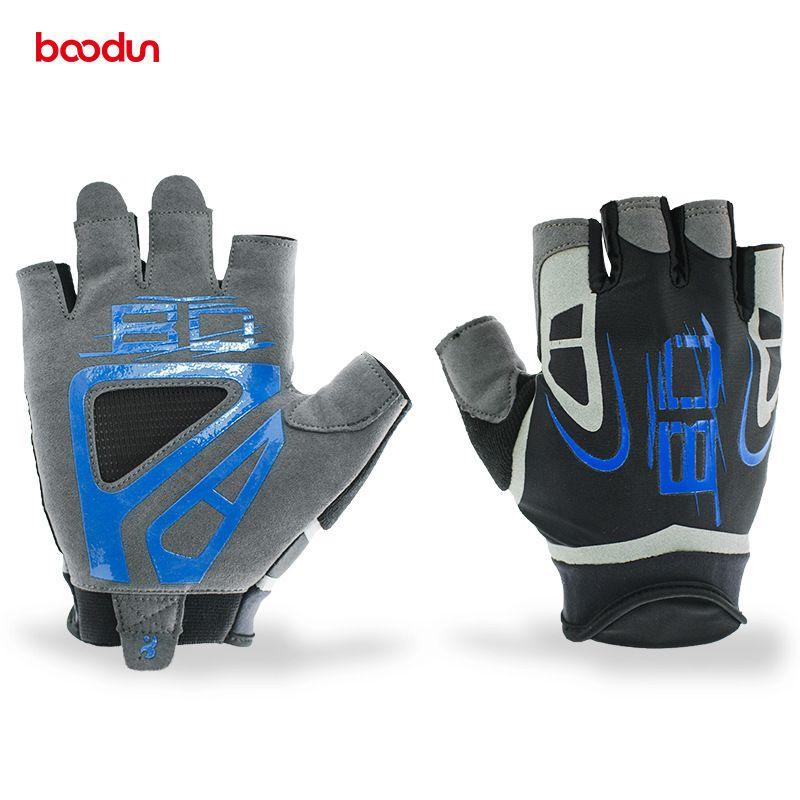 BOODUN Bodybuilding Dumbbell Training Wear-resisting Half Finger Gloves Men Women Half Finger Fitness Weight Lifting Protect