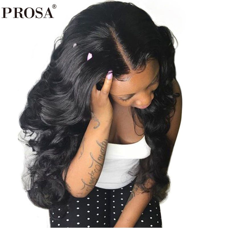 13X6 Part Lace Front Human Hair Wigs For Women Black 250% Density Body Wave Lace Front Wigs Brazilian Lace Wig Prosa Remy