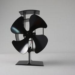 Envío libre estufa de madera eco ventilador de calor alimentado 4 cuchilla chimenea Sopladores ventilador eficiente distribución del calor