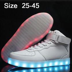 USB luminous sneakers cestas Femme LED Zapatos con luz niños únicos Niños brillante sneakers chaussure enfant LED Zapatillas 32