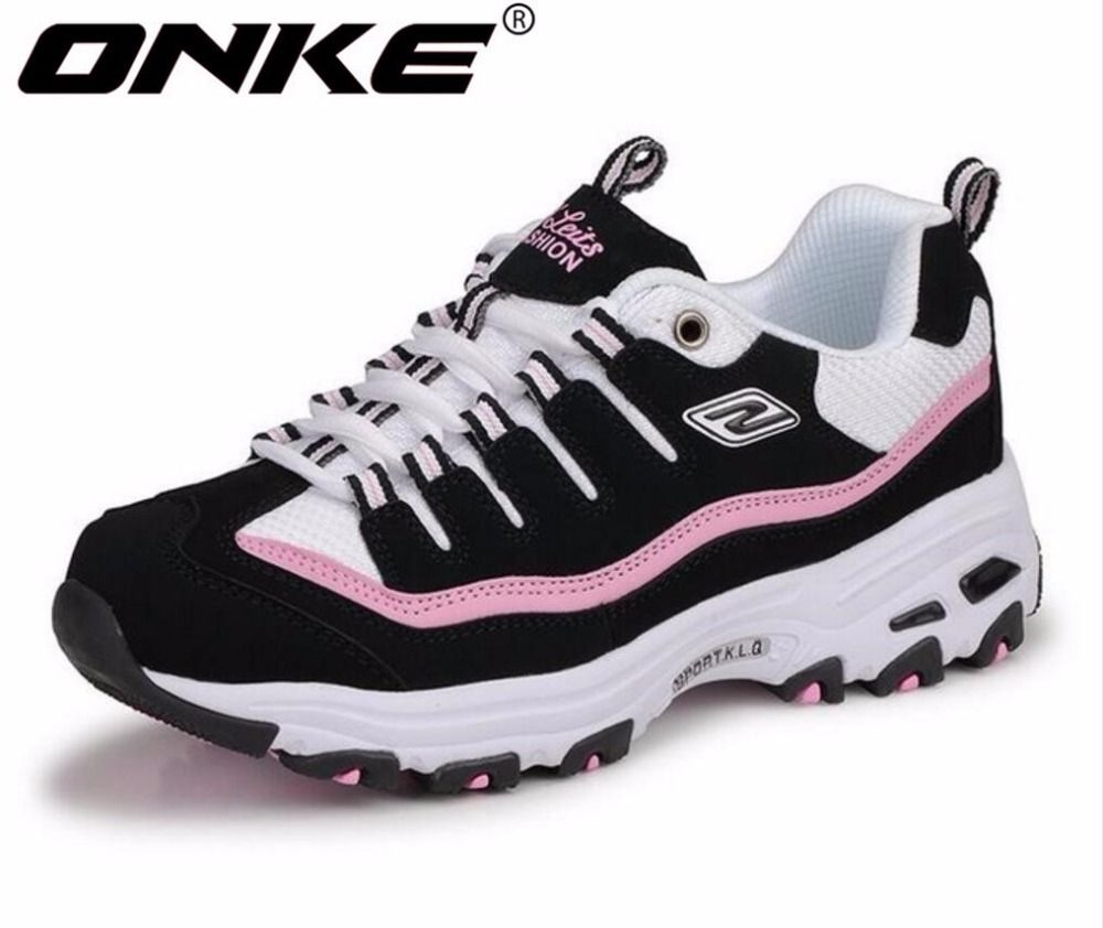 ONKE New listing of Hot sales Spring and Autumn Breathable Women running shoes sneakers men sports shoes lovers shoes 595