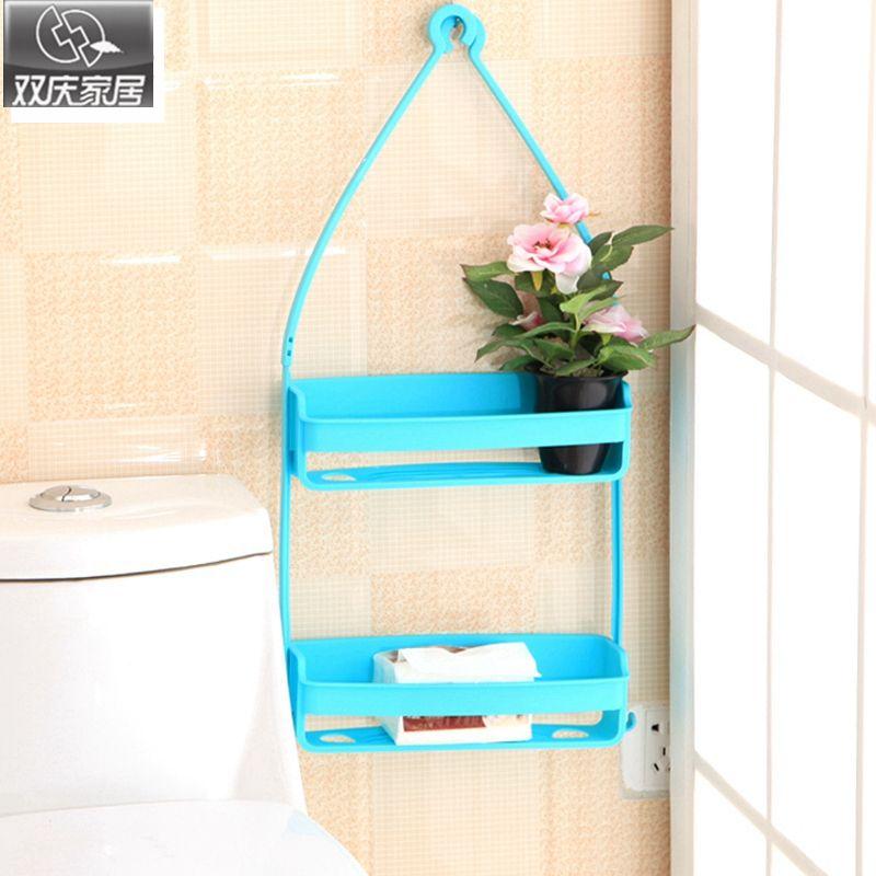 Salle de bain shevles magique sans soudure boîte à savon salle de bains cuisine lavabo étagère créative en plastique support de rangement crochet crochet