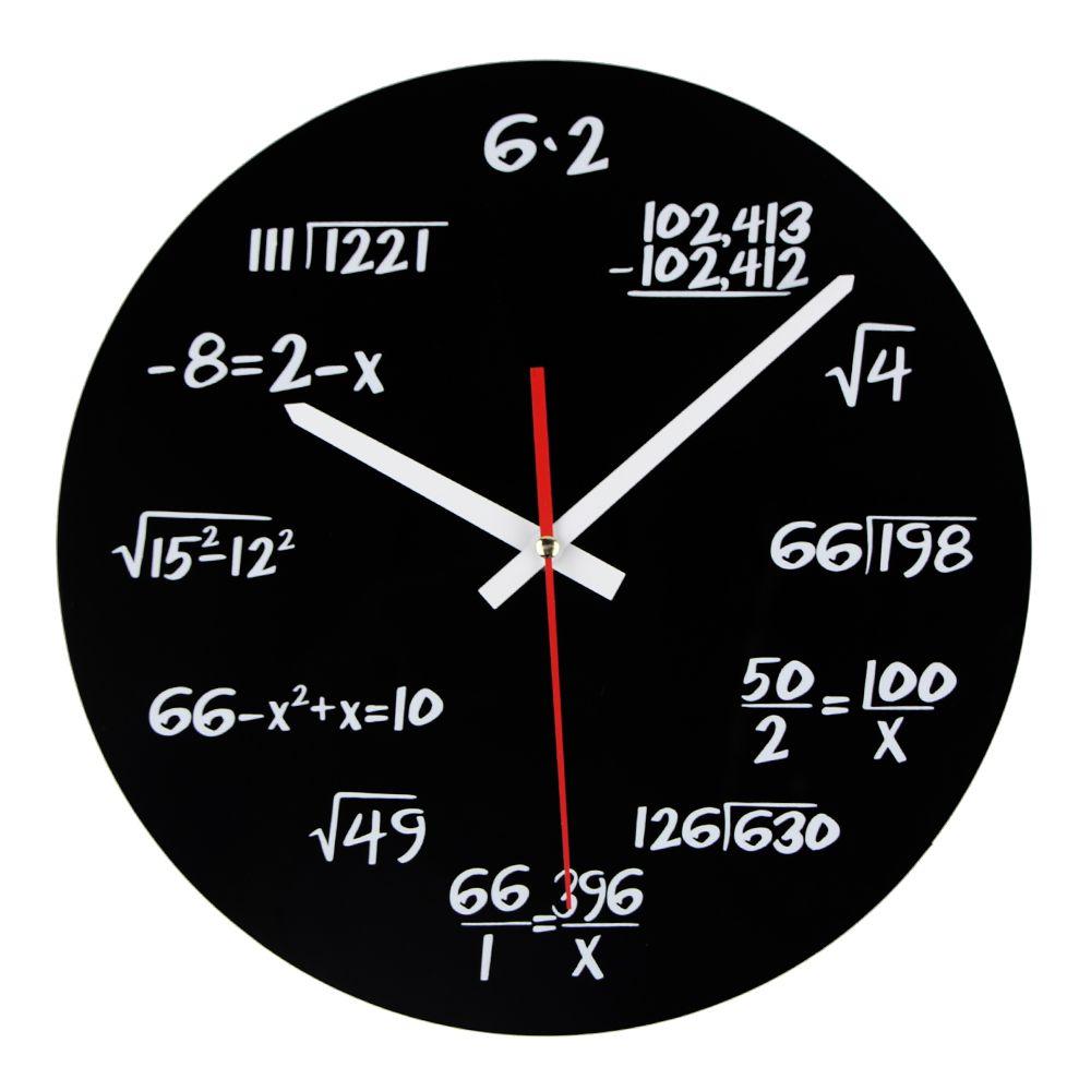 Heißer Verkauf Acryl Wanduhr Mathematik Gleichung Modernes Design Portugal Euro Neuheit Kunst Einzigartige Uhr Dekoration Zubehör