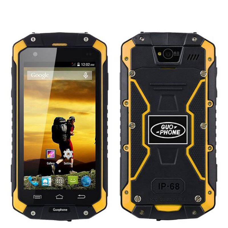2017 New GuoPhone V9 Phone V9 PRO With IP68 MTK6580 Android 5.1 3G GPS AGPS 4.5 Inch Screen Shockproof Waterproof Smart Phone