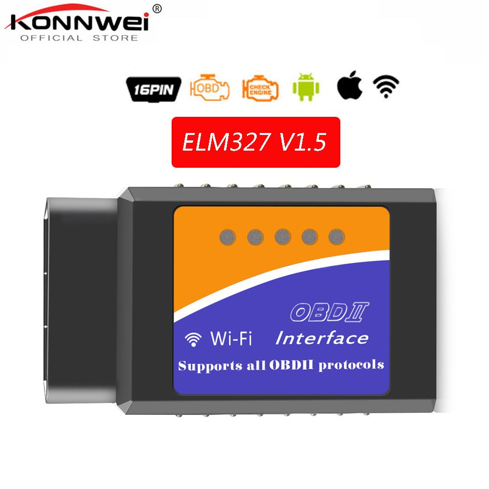 Livraison gratuite OBD2 WIFI ELM327 V 1.5 Scanner pour iPhone IOS Auto OBDII outil de numérisation OBD 2 ODB II ELM 327 V1.5 WIFI ODB2 autoscanner