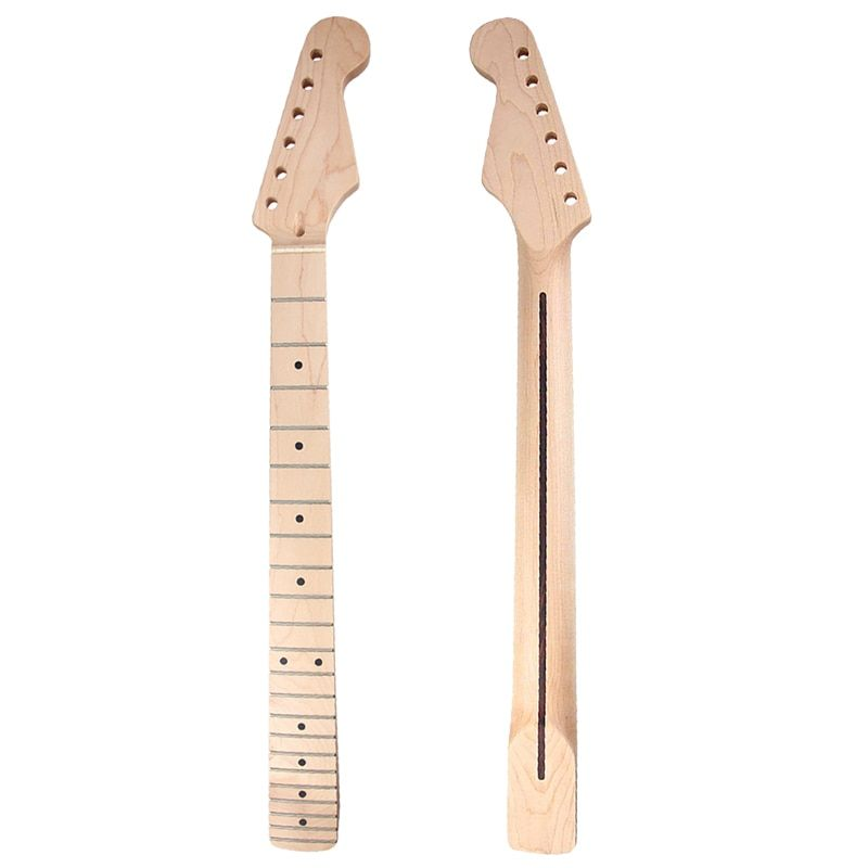 Kmise Electric Guitar Neck Canada Maple 22 Fret Clear Satin Bolt On Guitar Parts Replacement DIY Accessories