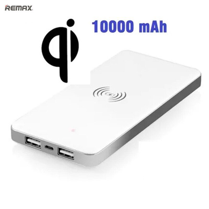 10000mAh Portable Battery 10000 mah Qi Wireless Charger Power Bank USB Charging Pad Powerbank For Samsung S6 S7 S8 edge note5 8