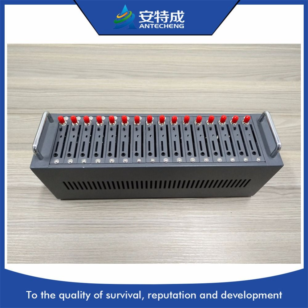 MTK quad band 850/900/1800/1900MHz bulk sms 16 port modem pool, 16 port gsm modem pool with IMEI change