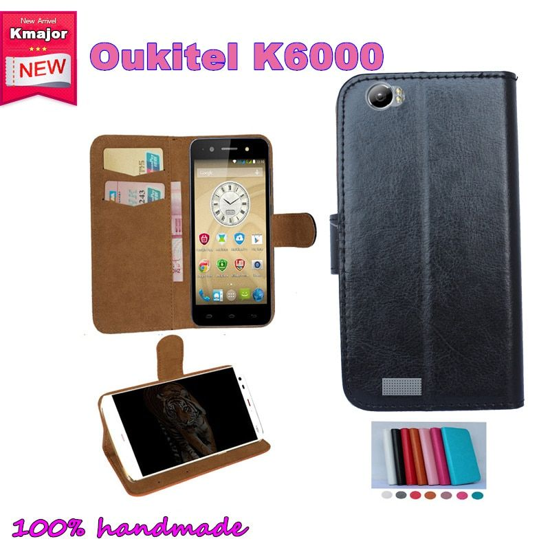 OUKITEL K6000 Case Flip Leather Smartphone Slip-resistant Case For OUKITEL K6000 5.5inch Pouch Cover Card Slots Wallet 7 Colors