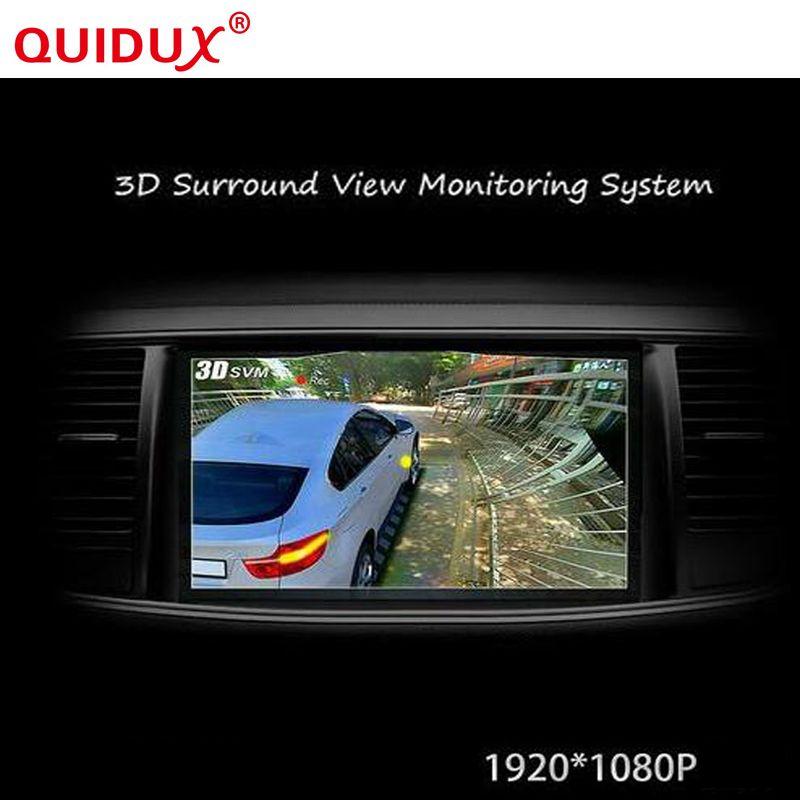 QUIDUX 2017 Newst HD 3D 360 grad Surround View System panorama fahren support system Vogelperspektive Panorama System Mit G-sensor
