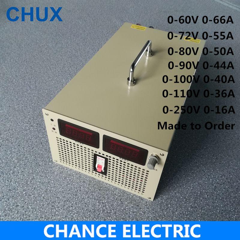 60 v 72 v 80 v 90 v 100 V 110 v 250 v Schaltnetzteil 4000 watt Eingang 110 v 220 v 380 v AC zu DC LED Smps 4000 watt Einstellbare Netzteil