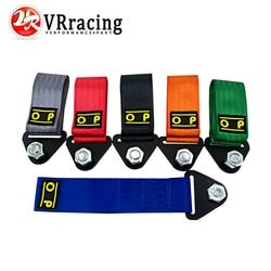 VR - OMP Towing Rope Racing Car Universal Tow Eye Strap Tow Strap Bumper Trailer High Strength Nylon OMP JDM trailer Tow Ropes