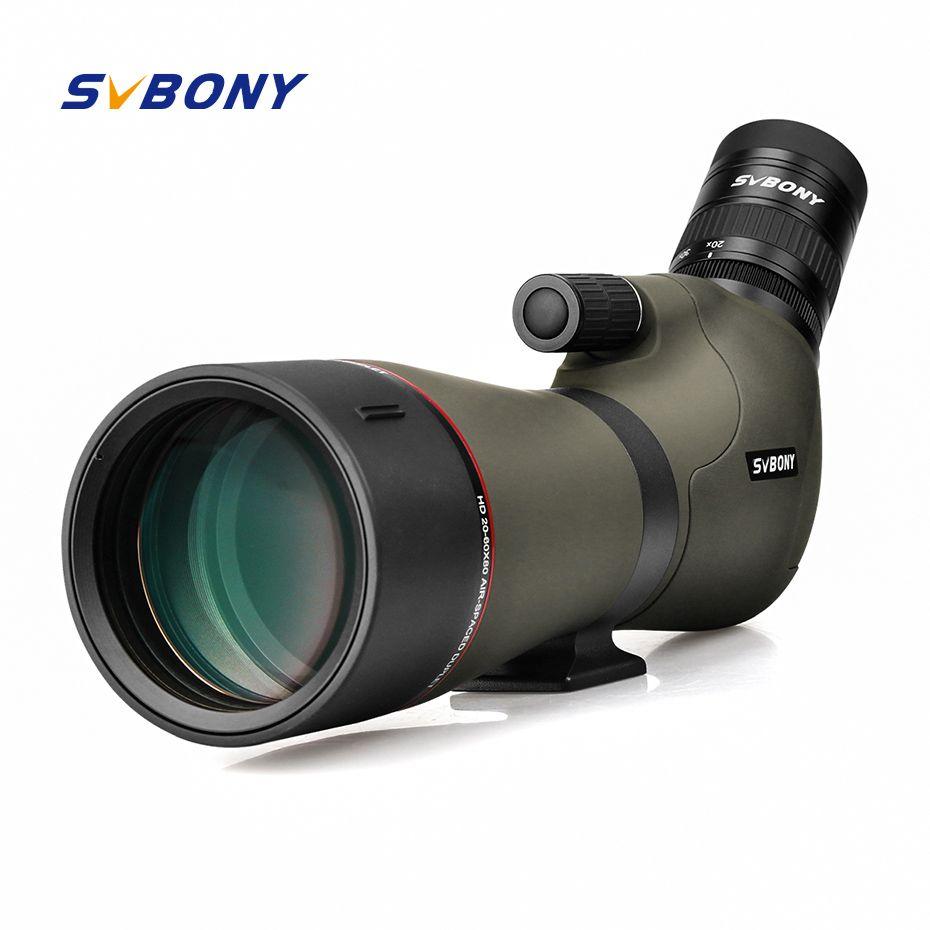 SVBONY 20-60x80 Spektiv Zoom Stickstoff Gefüllt Wasser-proof Teleskop Dual Fokus Mechanismus Metall Körper für Vogelbeobachtung