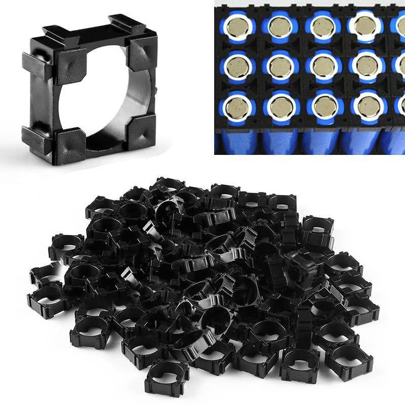 100 pièces 18650 support de cellule de batterie entretoise de sécurité rayonnant support de stockage de coque Mayitr adapté pour 1x18650 batterie