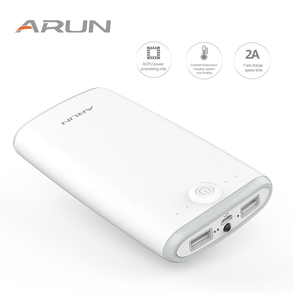 ARUN 20000mah Portable External Battery Charger With Indicator light Power Bank For Smart Phones Dual USB Port Battery Charger