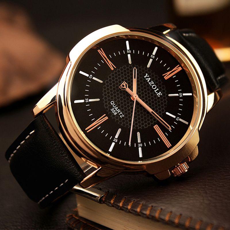 Yazole Brand Luxury Famous Men Watches Business Men's Watch Male Clock Fashion Quartz Watch Relogio Masculino reloj hombre 2018