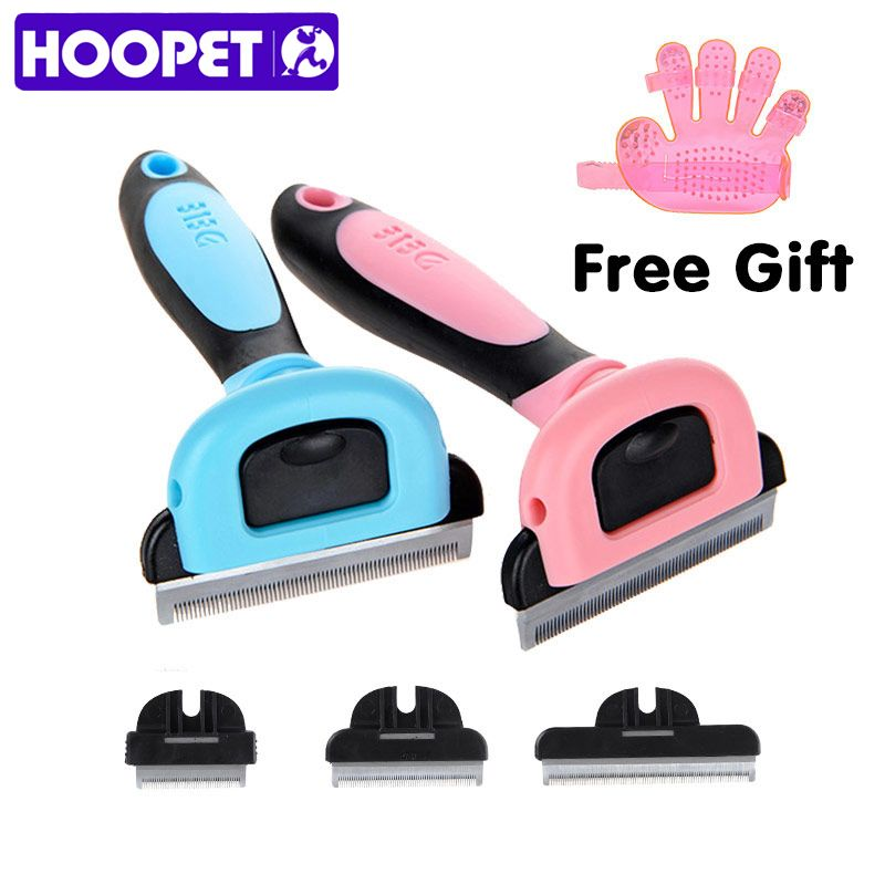 HOOPET Chien Cheveux Remover Chat Brosse Toilettage Outils Amovible Attachement Clipper Pet Trimmer Peignes Pour Chat Pet Supply Furmins