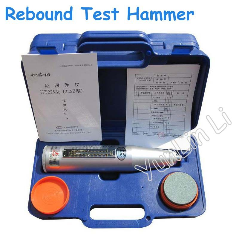 Concrete Rebound Test Hammer Portable Schmidt Hammer Testing Equipment Resiliometer (Blue Instrument Case) HT-225B