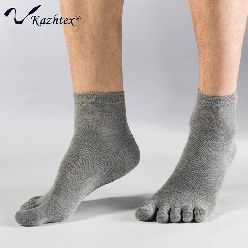 C314108 Kazhtex chaussettes à bout antibactérien en Fiber d'argent pour hommes 5 doigts chaussettes désodorisation respirante prévenir beriberi 3 paires/lot