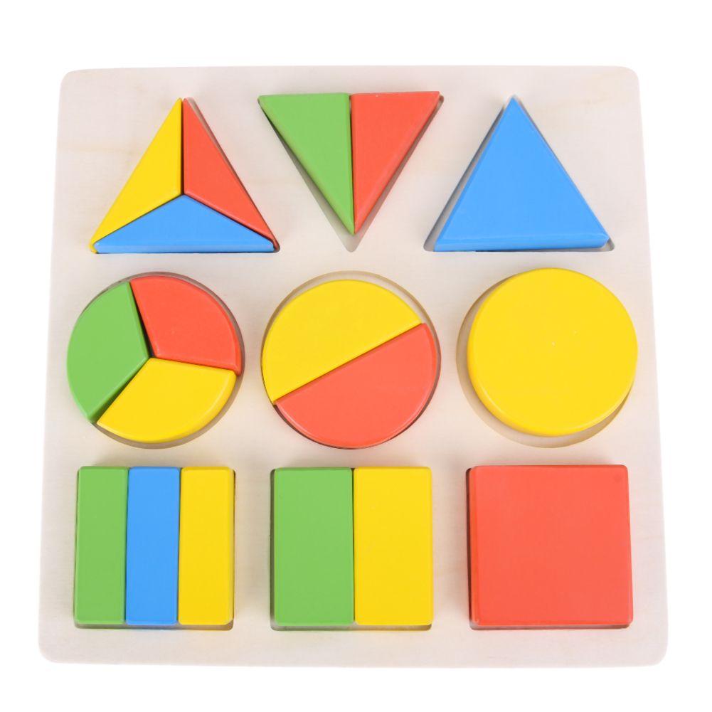 Madera 3D Rompecabezas Geométrico Developmental Niños Juguete de Los Niños Juguetes De Madera Montessori Enseñanza Rompecabezas Construcción de Juguetes Educativos de Regalo