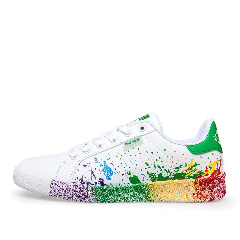 Plus tamaño 36--45 2017 Zapatos Primavera verano Para los hombres Cómodamente con cordones Planos Zapatos de Moda Casual para hombre hombres zapatillas de deporte