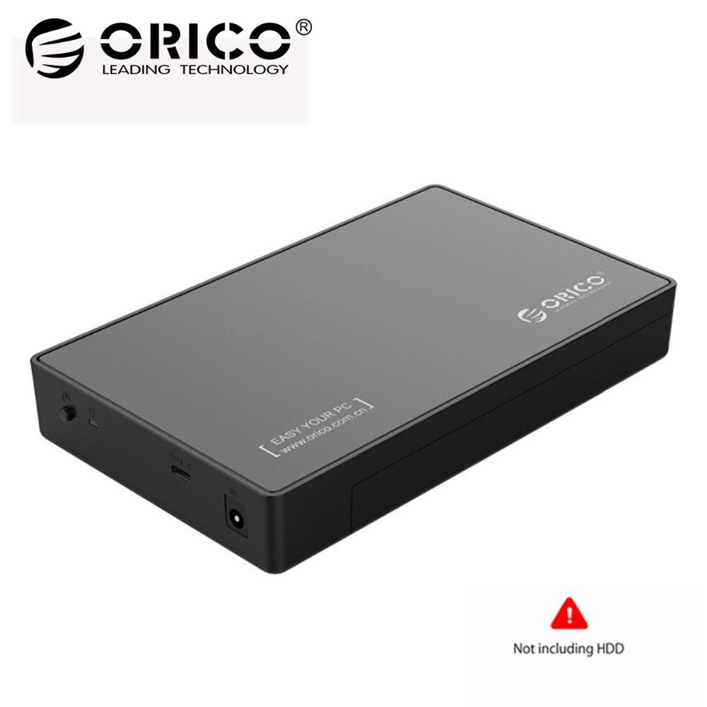 ORICO 3588C3 HDD Fall SATA 3,0 zu Typ C Gen 1 2,5 3,5 zoll SSD Sata Festplatte Gehäuse Lagerung unterstützung UASP Protokoll Für HDD
