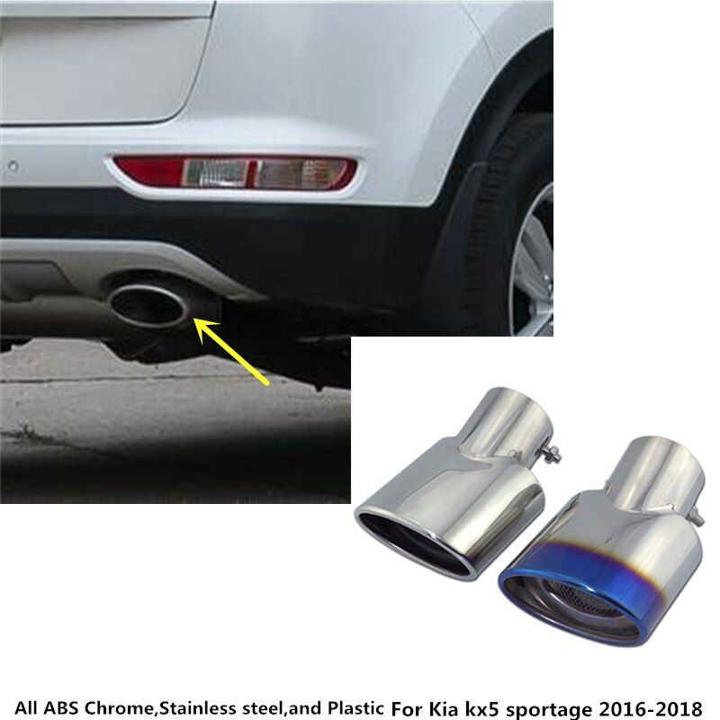 Free shipping car muffler exterior end pipe outlet dedicate stainless steel exhaust tip tail For Kia kx5 Sportage 2016 2017 2018
