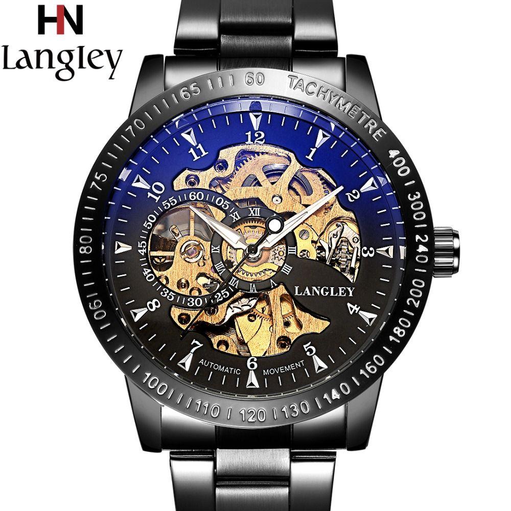 2018 montres classiques hommes Top marque de luxe haute qualité squelette montre automatique mécanique 3 ATM résistant à l'eau montre-bracelet mâle