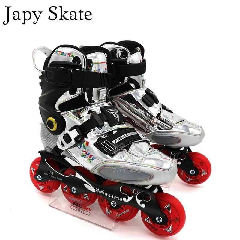 Japy Skate Original Freestyle YJS Carbon Faser Berufs Slalom Inline Skates Roller Skating Schuh Schiebe Freies Skating Patine