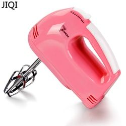 JIQI 220V Hand Electric Food Mixer Operated Mini Cream Mayonnaise Frother Drink Milk Mixer Maker Food Blender